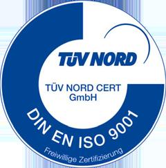Zertfizierung verlängert: DIN EN ISO 9001 : 2015